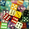 writinggame: Lots of colorful dice (roll the dice)