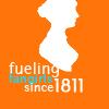tree: silhouette of jane austen; text: fueling fangirls since 1811 ([pp] powered by austen)