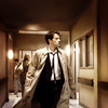 scaramouche: Misha Collins as Castiel, from Supernatural (castiel's coat goes swish)
