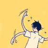 wistfuljane: watanuki (xxxholic) waving his arms and flailing (*waves arms*)
