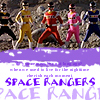"rosabelle: astro team all in a row with the caption ""space rangers"" (power rangers - astro team)"