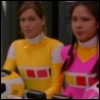 rosabelle: ashley and cassie morphed without helmets standing side-by-side (power rangers - ash and cassie - morph)