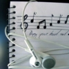 hermitsoul: earphones and a music notebook icon (* music: roxicons)