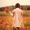 lalumena: ([stock] holding flowers)