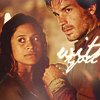 "veleda_k: Gwen and Lancelot from BBc Merlin. Text says ""With you."" (Merlin BBC- Gwen/Lancelot)"
