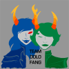 teamdolofang: Silhouettes of both Mindfang and the Dolorosa from Homestuck, with the caption Team DoloFang (dolofang)