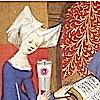 the_shoshanna: Christine de Pisan drinks from an OTW mug (Christine de Pisan)