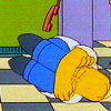 bossymarmalade: homer simpson assumes a fetal position (despair of the dial tone)