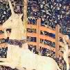 sineala: Detail of The Unicorn in Captivity, from The Hunt of the Unicorn Tapestry (Default)