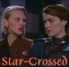 "sineala: Ivanova and Talia from Babylon 5 looking at each other; the text reads ""star-crossed"" (ivanova/talia)"