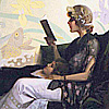"sineala: Detail of Harry Wilson Watrous, ""Just a Couple of Girls"" (reading)"