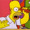 bossymarmalade: homer simpson sticking a weiner in his eye (you make me feel like this)