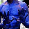 bossymarmalade: a man in moko jumbie mud (moko jumbies are my entourage)