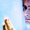 randomling: The Tenth Doctor (of Doctor Who) looking sad, pressed against a wall. (sad ten)