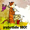 thingswithwings: calvin and hobbes say: yuletide ho! (yt - yuletide ho!)