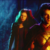 randomling: A dazed Amy Pond follows Rory Williams in Roman dress. (Doctor Who.) (rory/amy)