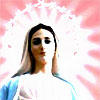 bossymarmalade: the blessed virgin mary in pinks and blues (queen of heaven)
