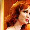 wishfulclicking: joan with hair flip (joan looking cute)