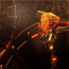 mjolnir_retriever: Thor in armor mid-motion, whirling to run or swing his hammer (chaaaaarge!)