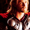 mjolnir_retriever: Thor in armor, looking upwards seriously into golden light offscreen (father's faith)