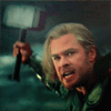 mjolnir_retriever: Thor, mid-battle and mid-swing (hammer in motion)