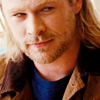 mjolnir_retriever: Thor in human clothes, looking faintly amused and/or satisfied (sidelong tiny smile or smirk)