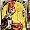 kass: Hildegard holding up an OTW mug (hildegard)