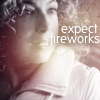 "randomling: River Song (of Doctor Who). The text ""expect fireworks"" is displayed. (expect fireworks)"