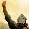 quadruplify: Amon (from the Legend of Korra) speaking at an Equalist protest, fist raised in the air ([LoK] Amon - revolution)