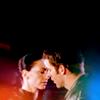randomling: Aeryn and Crichton (Farscape) lean in for a kiss. (aeryn/crichton)