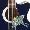 jessidora: Sound hole of the Luna Moth guitar (Luna_Moth)