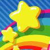 minna: a mario-style cartoon star over a rainbow ([MISC] stars)