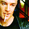 randomling: Spike (Buffy the Vampire Slayer) with a cigarette in his mouth. (spike)