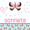 sonneta: my username, with a butterfly (username) (Default)