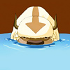 syntheid: [Avatar: TLA] Appa face-on in water up to his nose. (yip yip)