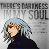 "celestineangel: A drawing of Riku from Kingdom Hearts in his Heartless garb with the words ""There is darkness in my soul."" (Kingdom Hearts - Riku Darkness)"