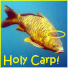 dizmo: It's a carp.  With a halo.  Holy carp. (misc: holy carp)