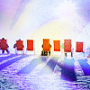merryghoul: people in chairs on snow (people in chairs)