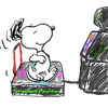 hopefulnebula: Snoopy playing DDR (Snoopy Dance Revolution)