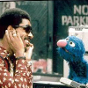 gloss: Stevie Wonder & Grover regarding each other dreamily (Grover<>Stevie)