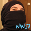 tam_i_am: Me with a black T shirt tied on my head to look like a ninja mask (Ninja me)