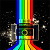 sasha_feather: polaroid camera with rainbow (camera)