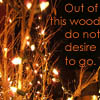 "liyana: ""Out of this wood do not desire to go."" (shakespeare, theatre)"