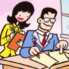 dizmo: From Tiny Titans: Lois and Clark at the Planet. (comics: tiny titans clark and lois)