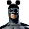 dizmo: Photomanip of Christian Bale's Batman with Mickey Mouse ears on the cowl. (comics: bat mouse ears)