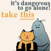 kaigou: It's dangerous to go alone, Alphonse says, and holds out a cat: here, take this. (2 dangerous to go alone)