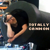 thingswithwings: Adam in a cannon: text: totally cannon! (myth - totally cannon!)