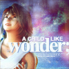 "monsterboy: Yuna from FFX staring into a rainbow sky, with the text ""a child-like wonder"". (childlike wonder)"