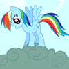 chasingrainbows: (MLP - Rainbow Dash on a cloud)