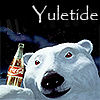 healingmirth: Coca-Cola bear with Yuletide text (yuletide)